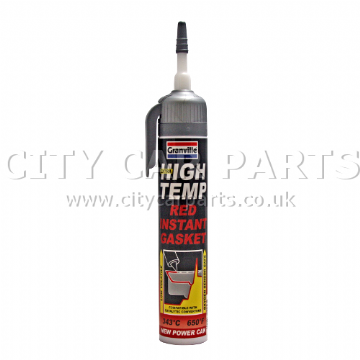 GRANVILLE EXTRA HIGH TEMPERATURE TEMP RED INSTANT GASKET SILICONE SEALANT CAN